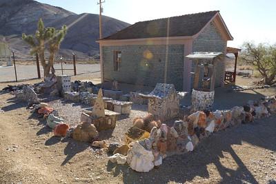 Tom Kelly's Bottle House. Rhyolite Ghost Town - Rhyolite, NV