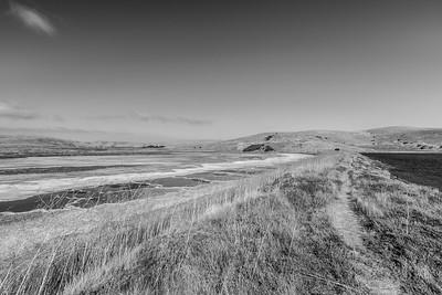 Salt Flats. Coyote Hills Regional Park - Fremont, CA, USA