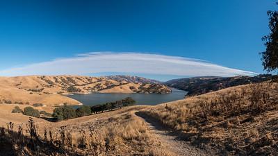 Panorama. Lake Del Valle. East Shore Trail. Del Valle Regional Park - Livermore, CA, USA