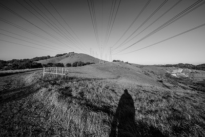Power Lines. Oursan Trail. East Bay MUD Park at Briones Overlook Staging Area - Orinda, CA, USA