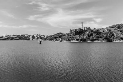 Briones Reservoir. Oursan Trail - East Bay MUD Park at Briones Overlook Staging Area - Orinda, CA, USA
