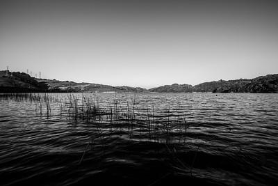 Sunset. Briones Reservoir. East Bay MUD Park at Briones Overlook Staging Area - Orinda, CA, USA