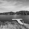 Fishing Pier at Lake Chabot. Honker Bay Trail. Lake Chabot Regional Park - Castro Valley, CA, USA