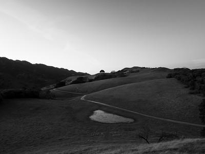 Sunset. Olive Grove Trail & Thermalito Trail. Near Olive Grove Trail. Pleasanton Ridge Regional Park - Sunol, CA, USA