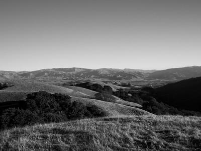Sunol & Interstate 680. Near Ridgeline Trail. Pleasanton Ridge Regional Park - Sunol, CA, USA