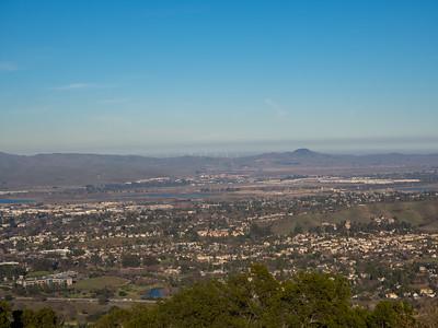 Pleasanton, Livermore, and Altamont Pass. Ridgeline Trail. Pleasanton Ridge Regional Park - Sunol, CA, USA