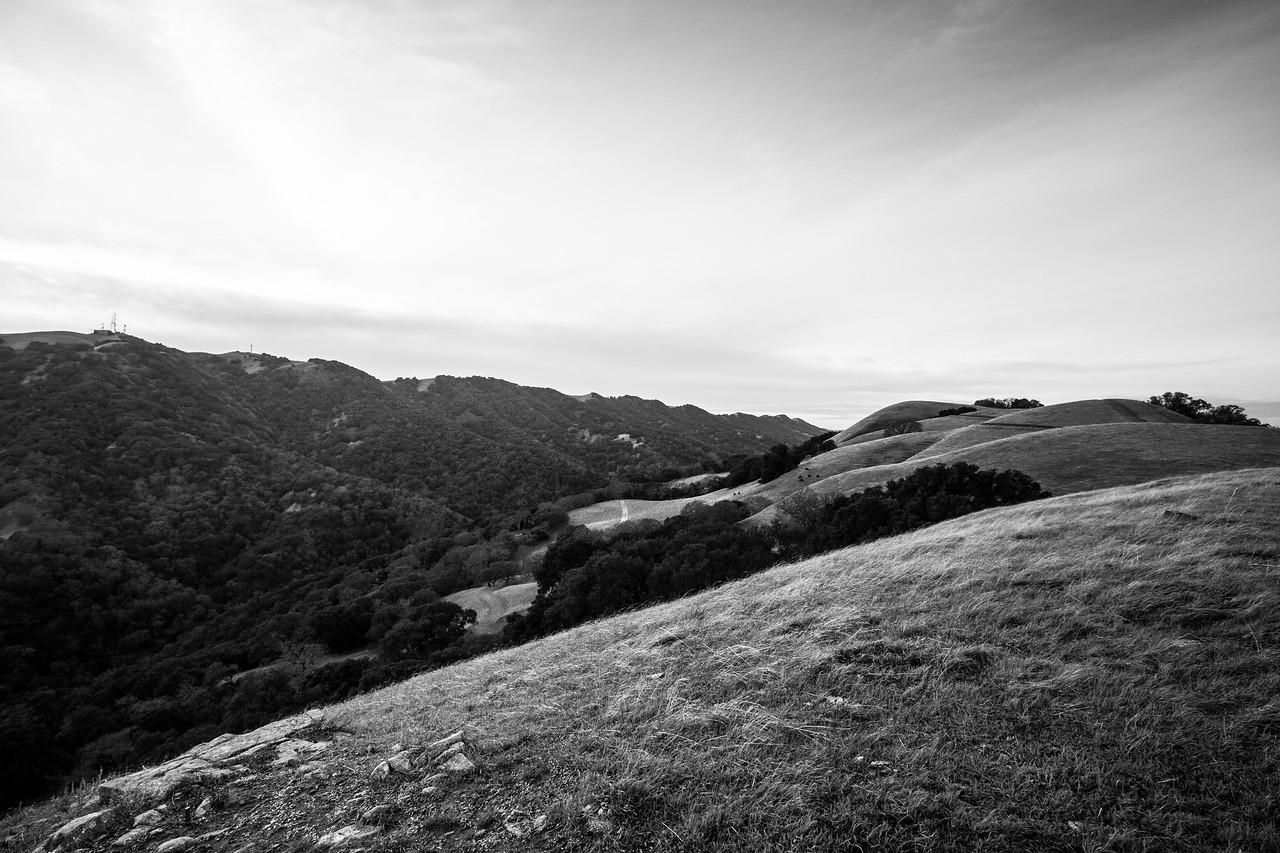 Sunset. Thermalito Trail - Pleasanton Ridge Regional Park - Sunol, CA, USA