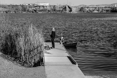 Fishermen. Shadow Cliffs Regional Park - Pleasanton, CA, USA
