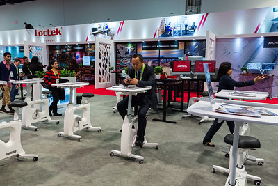 Biking Desk. Consumer Electronics Show (CES) 2018 - Las Vegas, NV, USA