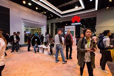Huawei Booth. Consumer Electronics Show (CES) 2018 - Las Vegas, NV, USA