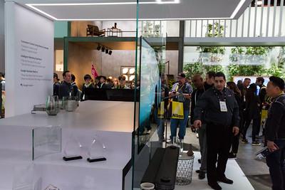 LG ThinQ Super Thin TV. LG Booth. Consumer Electronics Show (CES) 2018 - Las Vegas, NV, USA