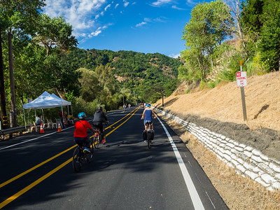Sunol, CA, USA  Photo from the Niles Canyon Stroll & Roll event. For the event, the section of State Route 84 between Sunol, CA and Fremont, CA is closed down for pedestrians and bikers.