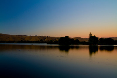 Sunset. Lake Elizabeth/Fremont Central Park - Fremont, CA, USA