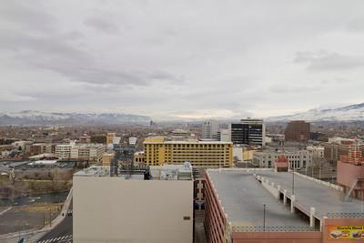View of Reno from Harrah's Hotel. Reno, NV, USA