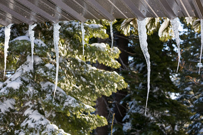 Icicles. Truckee, CA, USA