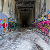 Street Art. Historical Central Pacific Railroad Tunnel #6 (Summit Tunnel). Truckee, CA, USA
