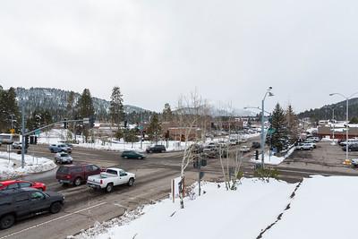 Snowstorm. Safeway Parking Lot - Truckee, CA, USA