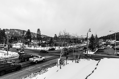 Snowstorm. Safeway Parking Lot - Truckee, CA, USA