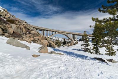 Donner Summit Bridge. Truckee, CA, USA