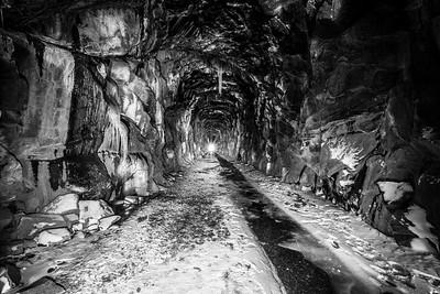 Historical Central Pacific Railroad Tunnel #6 (Summit Tunnel). Truckee, CA, USA