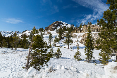 Side of Donner Pass Road - Truckee, CA, USA