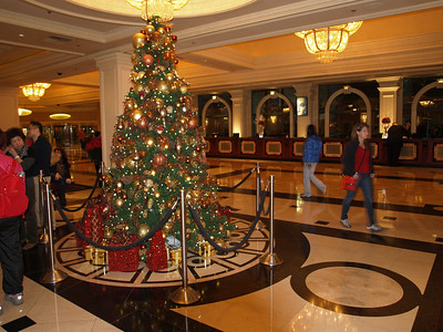 Christmas Tree at Montel Carlo Hotel. Las Vegas, NV, USA