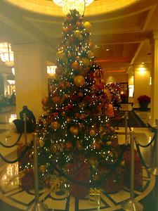 Christmas Tree at Montel Carlo Hotel. Las Vegas, NV, USA