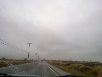Road to Las Vegas, NV. Heavy Rain.