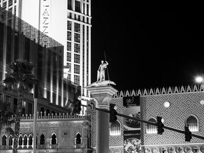 The Venetian & Palazzo. Shot near The Mirage. South Las Vegas Blvd. Las Vegas, NV, USA