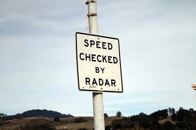 Sign. Half Moon Bay, CA, USA