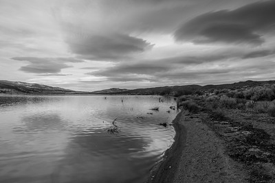 Washoe Lake. Washoe Lake State Park. New Washoe City, NV, USA