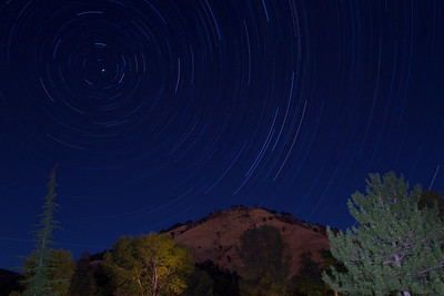 Star Trails. American Whitewater Rafting - Placerville, CA, USA