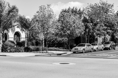 Black and White. Pleasanton, CA, USA