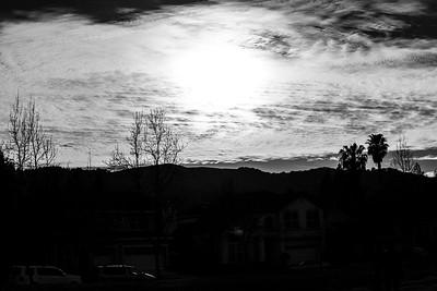 Sunset. Clouds. Hansen Park - Pleasanton, CA, USA