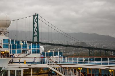Grand Princess Going Under Bridge