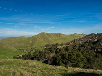 Delta & Solano County (in the distance). Black Diamond Trail. Black Diamond Mines Regional Preserve. Antioch, CA, USA