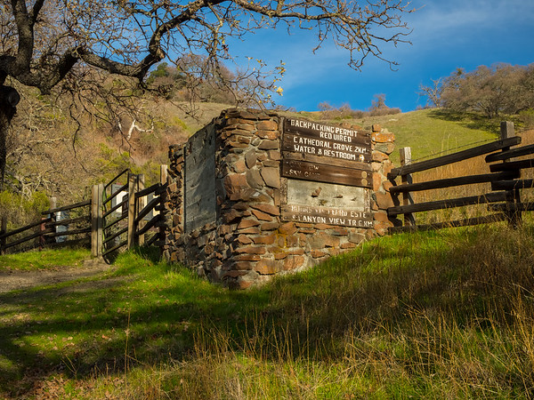 Intersection of Backpack Road & McCorkle Trail. Sunol Regional Wilderness. Sunol, CA, USA
