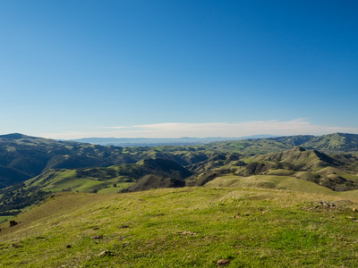 San Francisco Bay Area (in the distance). Cerro Este Road. Sunol Regional Wilderness. Sunol, CA, USA