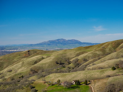 Tri-Valley & Mt. Diablo (in the distance). Cerro Este Road. Sunol Regional Wilderness. Sunol, CA, USA