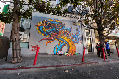 Mural. Chinatown - San Francisco, CA, USA