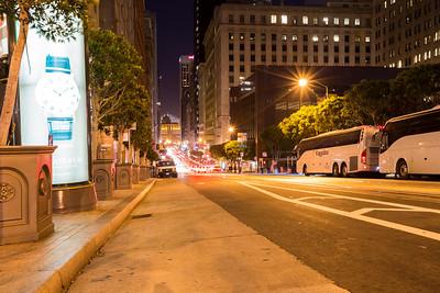 California Street and Kearny Street Intersection. San Francisco, CA, USA
