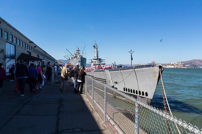 USS Pampanito & SS Jeremiah O'Brien. Fisherman's Wharf - San Francisco, CA, USA