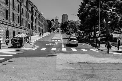 Intersection of Jefferson Street & Hyde Street. San Francisco, CA, USA
