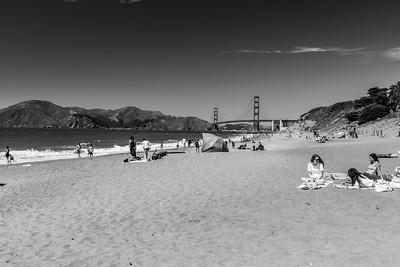 Golden Gate Bridge. Baker Beach - San Francisco, CA, USA