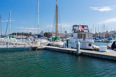 San Francisco Marina Yacht Harbor - San Francisco, CA, USA