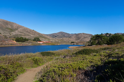 Coastal Trail, Bunker Road, and Rodeo Lagoon. Marin Headlands. Golden Gate National Recreation Area, CA, USA