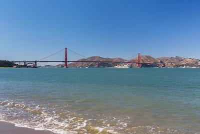 Golden Gate Bridge. Crissy Field East Beach - San Francisco, CA, USA