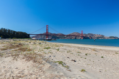 Golden Gate Bridge. Crissy Field Wildlife Protection Area - San Francisco, CA, USA