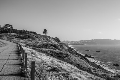 Baker Beach (in the distance) & Battery Marcus Miller (left). Shot by Battery Cranston between Battery Marcus Miller & Golden Gate Bridge. San Francisco, CA, USA