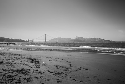 Golden Gate Bridge. Crissy Field East Beach. San Francisco, CA, USA